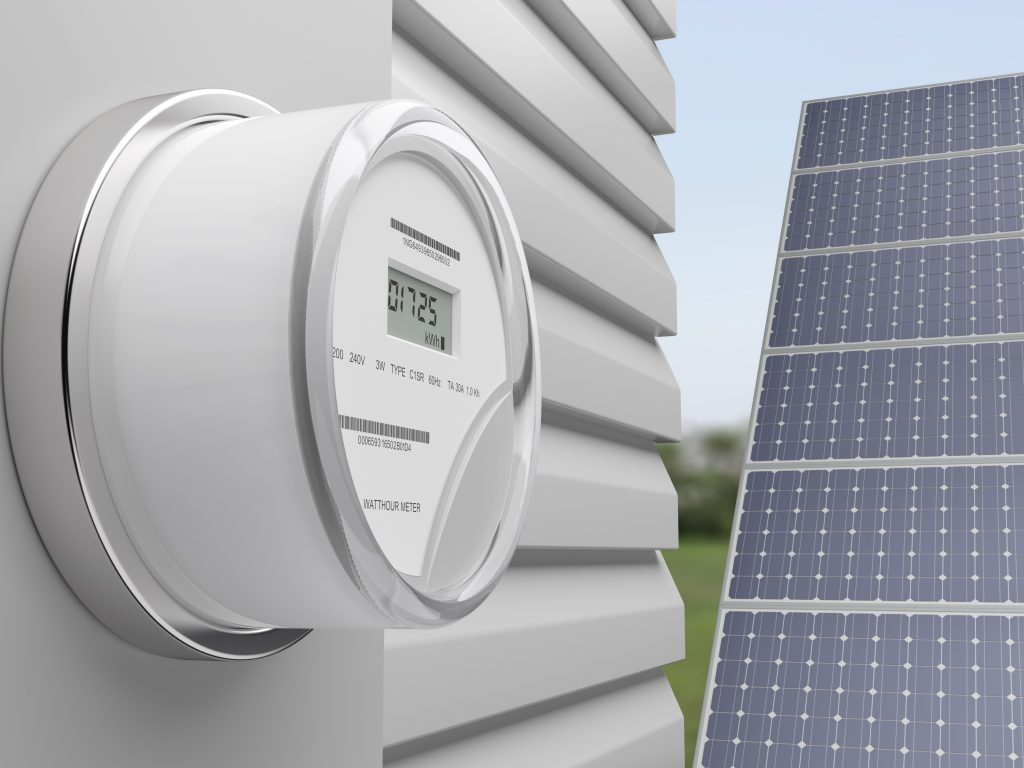 Skaitiklis saulės elektrinės