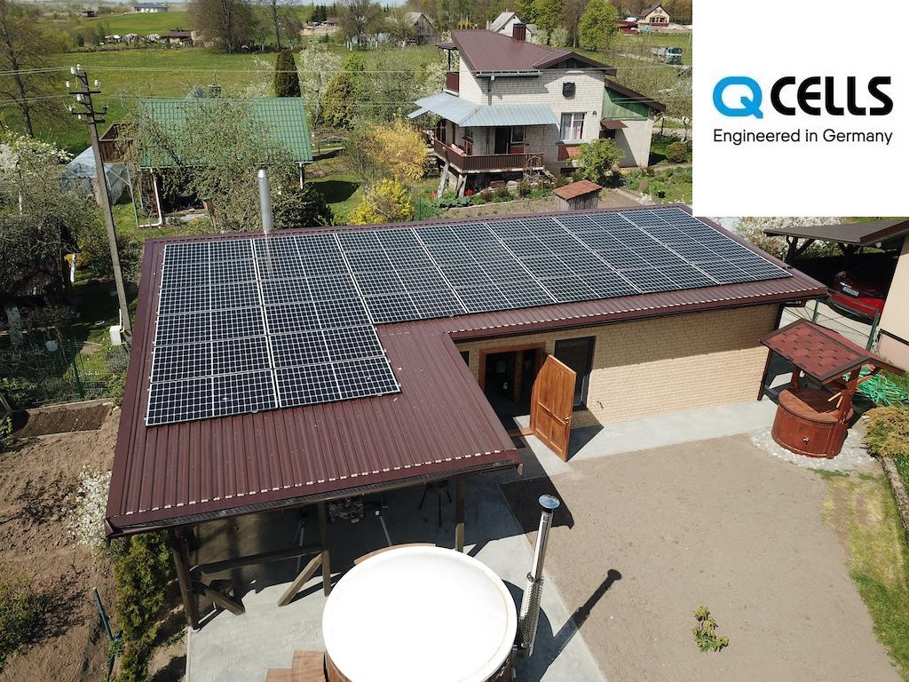 11 kW saulės elektrinė
