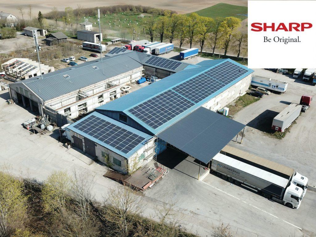 saulės elektrinė verslui - sharp