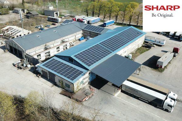 100 kW saulės elektrinė