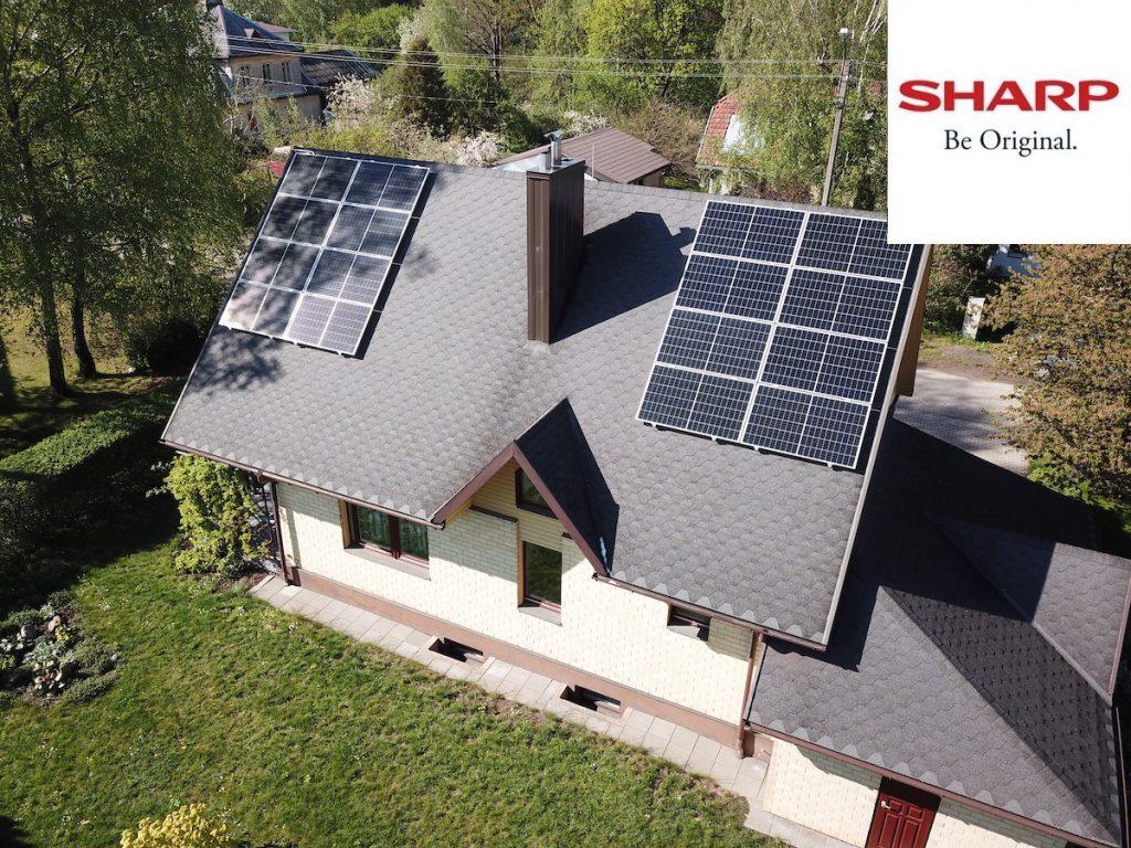 5 kw saulės elektrinė sharp