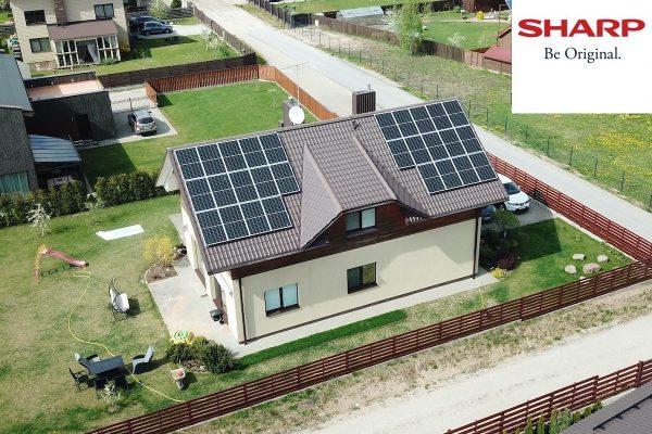 10 kW saulės elektrinė
