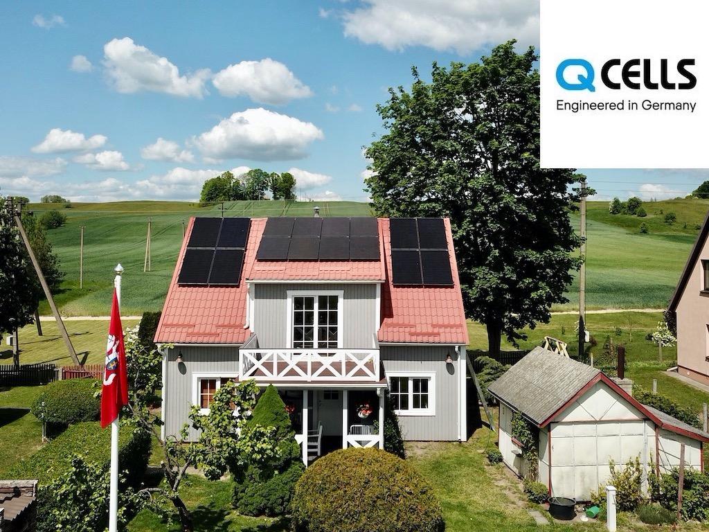 optimizuota saulės elektrinė QCELLS
