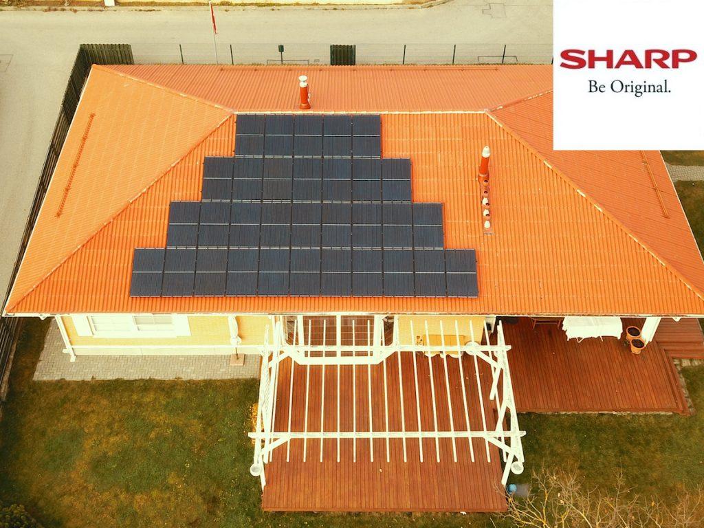 10 kW saulės elektrinė sharp