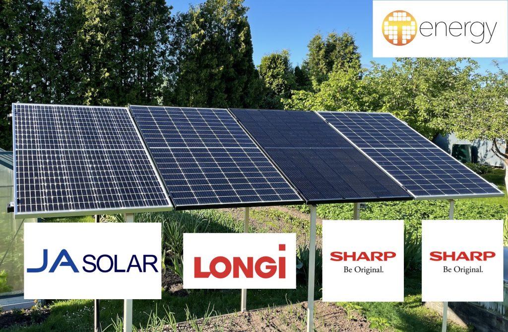 Eksperimentiniai tyrimai: SHARP, Longi, JA Solar, Q Cells, Solitek