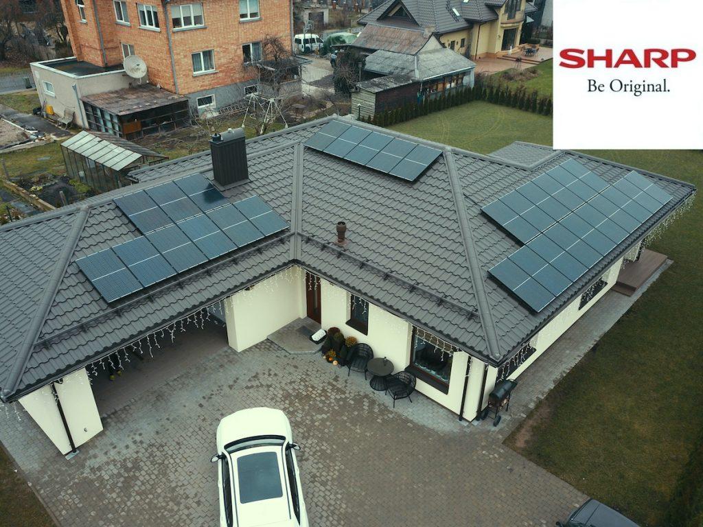 optimizuota saulės elektrinė sharp