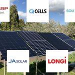 eksperimentiniai tyrimai, SHARP, Longi, JA Solar, Q Cells, Solitek
